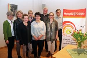 Die neu gewählte Vorstandschaft der Hospizgruppe