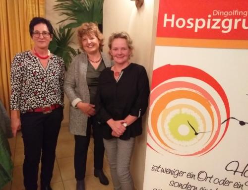 Hilde Witt und Ingrid Reisinger sprachen bei der Frauenunion Simbach über die Hospizarbeit