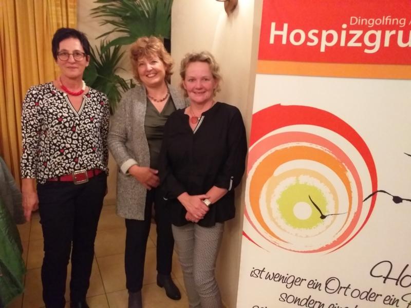 Hilde Witt und Ingrid Reisinger zusammen mit Brigitte Straubinger